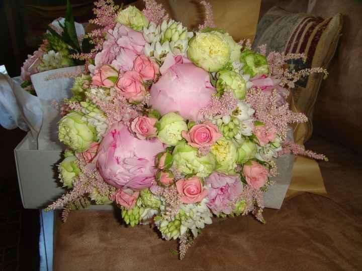 O meu bouquet com peónias