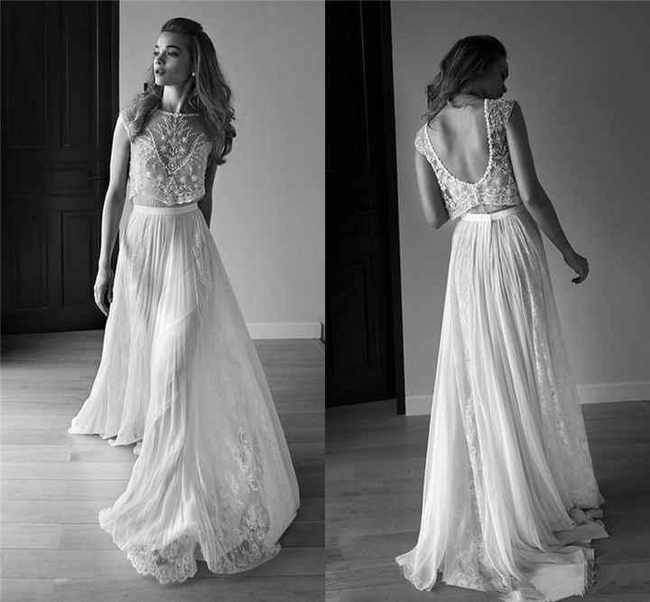 vestido (pela sua fluidez)