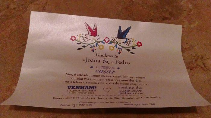 Fotos dos convites... - 3