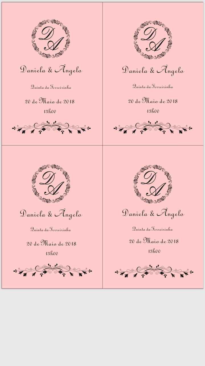 Convites check 👌🏻 - 1