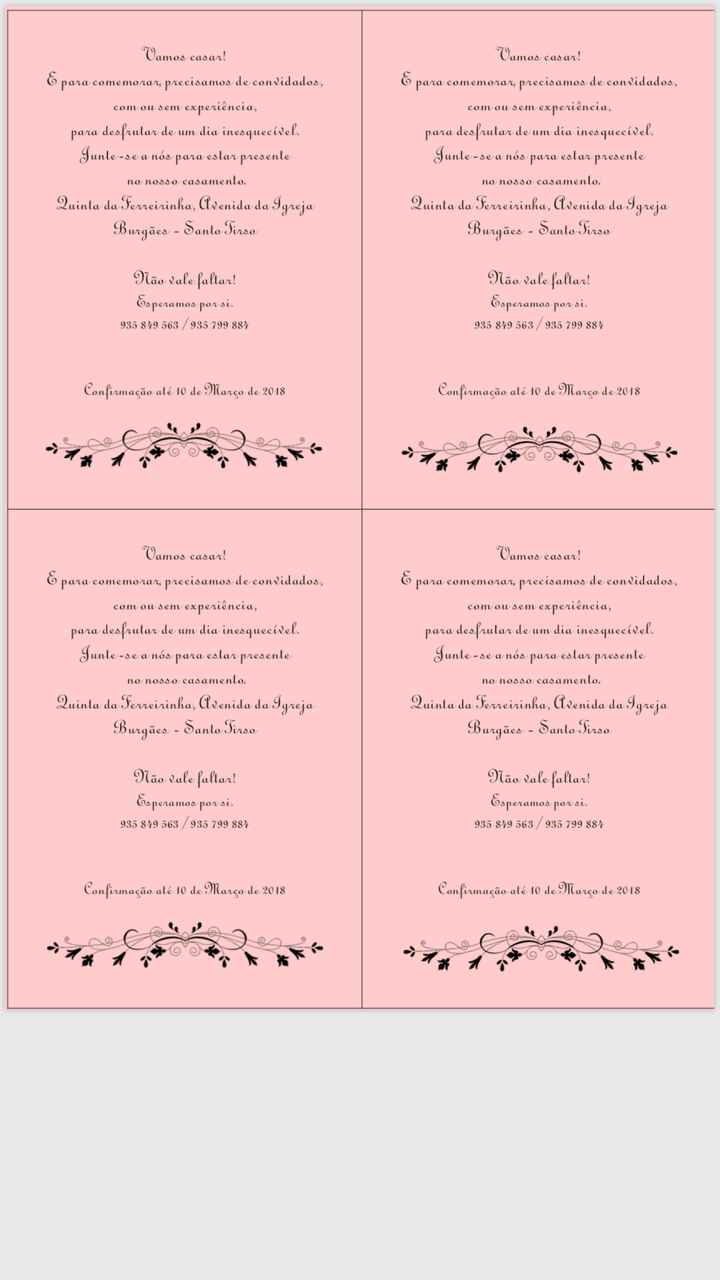 Convites check 👌🏻 - 2
