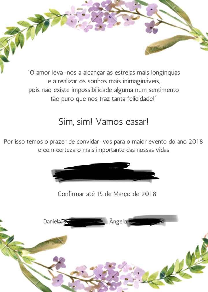 Novos convites - Check - 2
