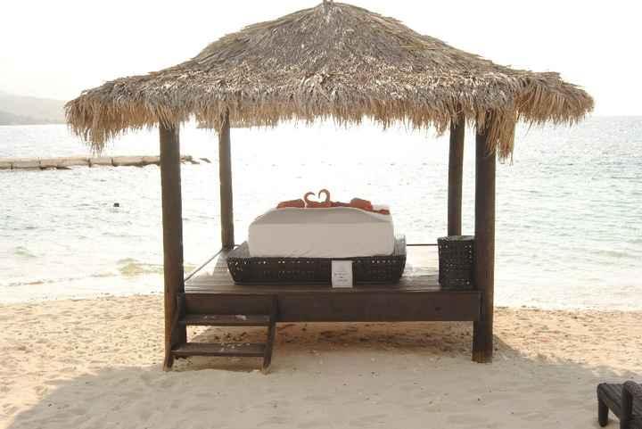 A cama da praia