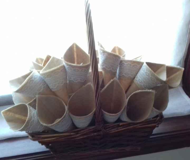Partilha - lágrimas de alegria | cones de arroz | porta alianças - 2