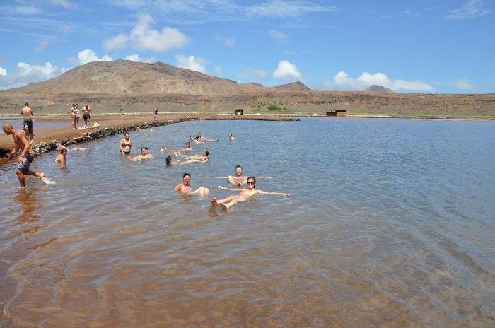 Salinas- Agua 26x mais salgada que no mar, uma pessoa não consegue ir ao fundo, com tanta quantidade