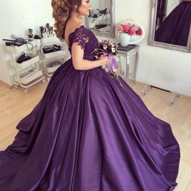 O Arco-Íris invade a Comunidade: Inspirações (roxas) para Vestidos de Noiva! 🌈 2