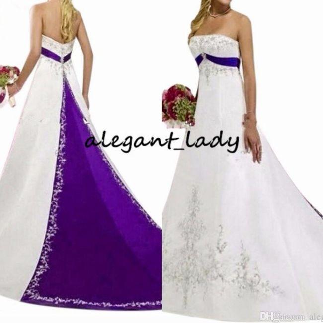 O Arco-Íris invade a Comunidade: Inspirações (roxas) para Vestidos de Noiva! 🌈 3