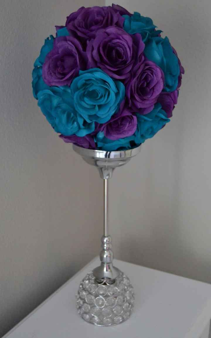 Topiário flores artificiais para centro de mesa ou para decorar espaço do casamento/cerimónia