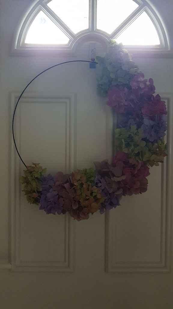 diy arco de flores para suspender - 5