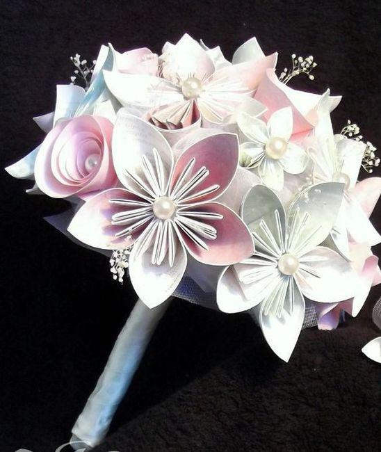 bouquet origami. Black Bedroom Furniture Sets. Home Design Ideas
