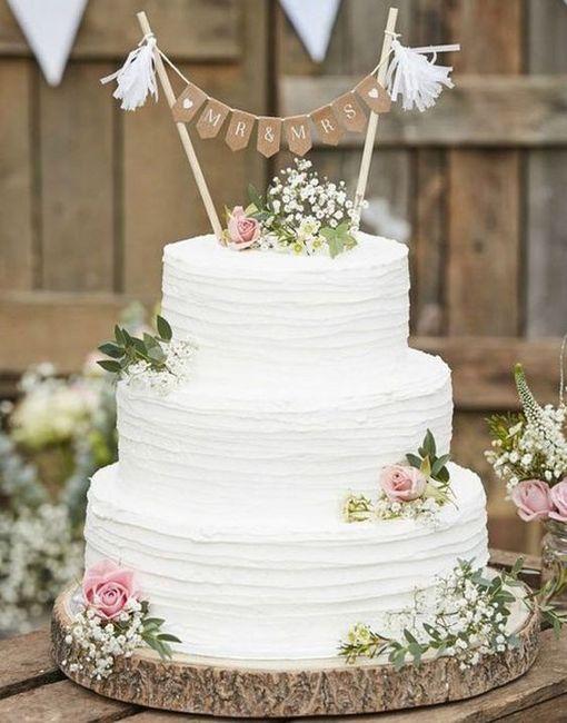 4 estilos, 4 elementos - O bolo de casamento 4