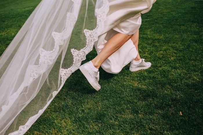 Que nota dás a estas sapatilhas de noiva? 1