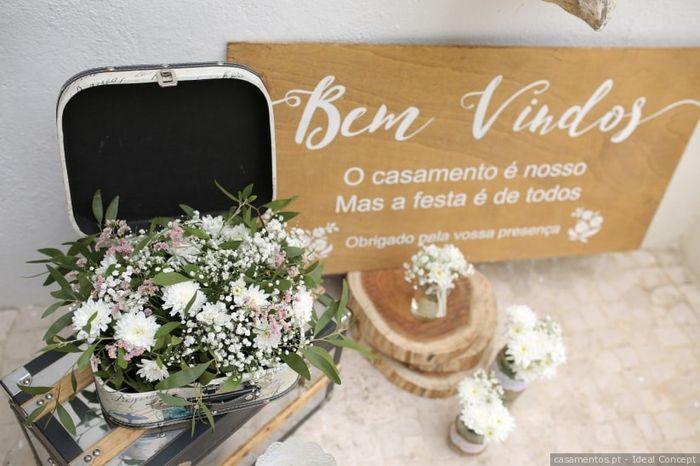 Dúvidas sobre o tema de casamento: A placa de boas-vindas 1