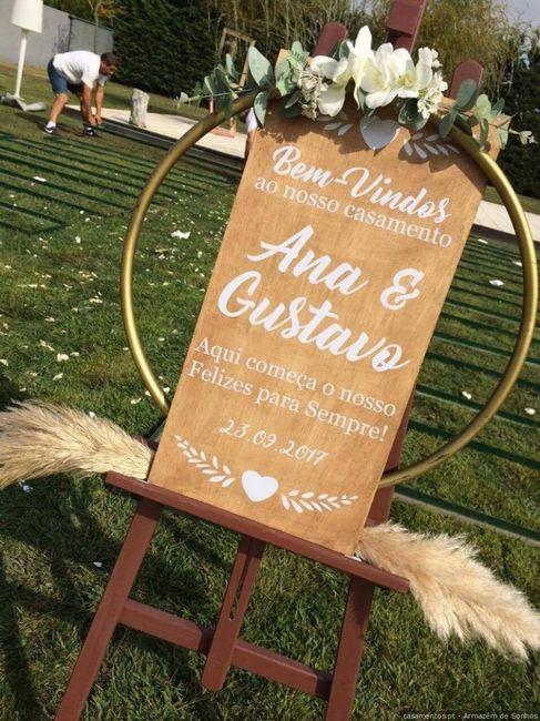 Dúvidas sobre o tema de casamento: A placa de boas-vindas 4