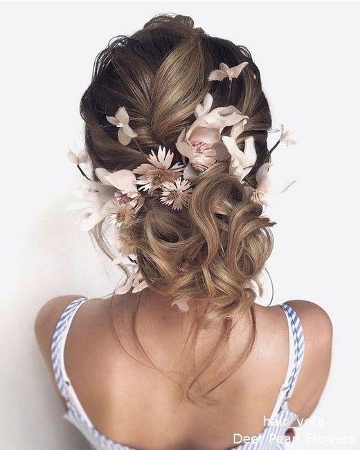 Flores no penteado de noiva? 1