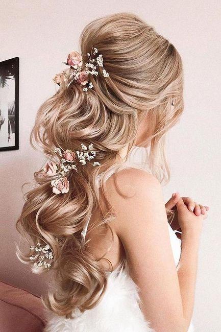 Flores no penteado de noiva? 2