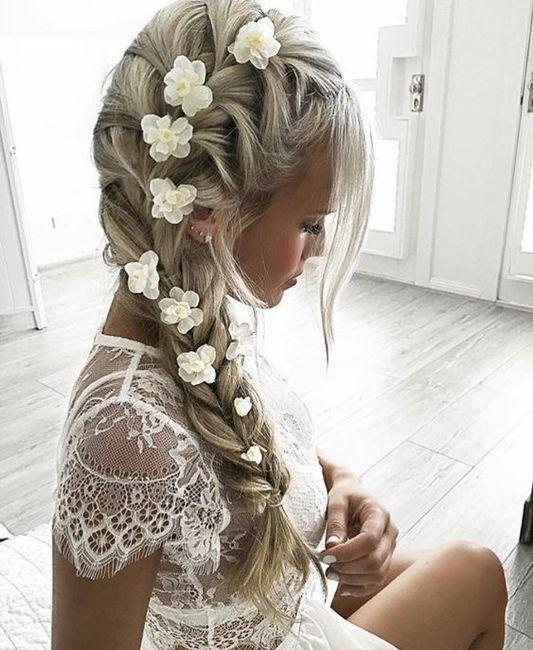 Flores no penteado de noiva? 4
