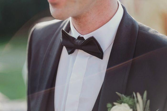 O laço do noivo: liso ou estampado? 1