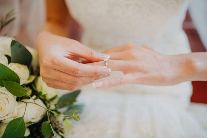 Em que mão tens o anel de noivado neste momento? 2