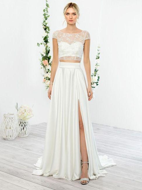 Vestido de noiva crop top: qual? 1