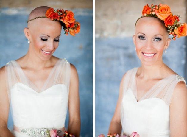 Outubro é Rosa: inspirações para noivas carecas 💗 5
