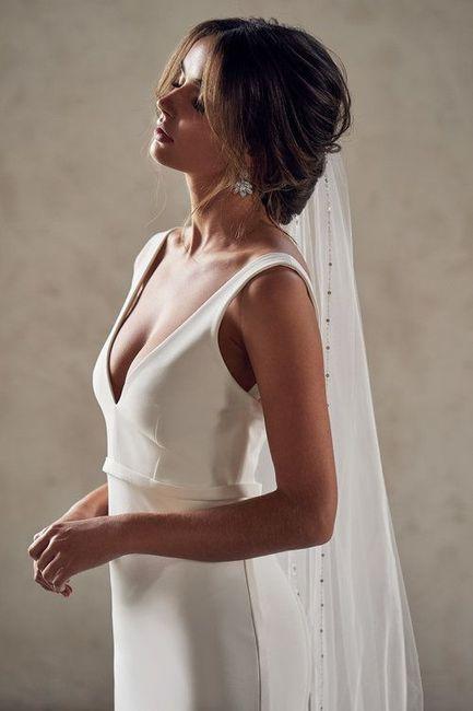Aposta pelo minimalista: 5 inspirações para o look de noiva 👰🏽 6