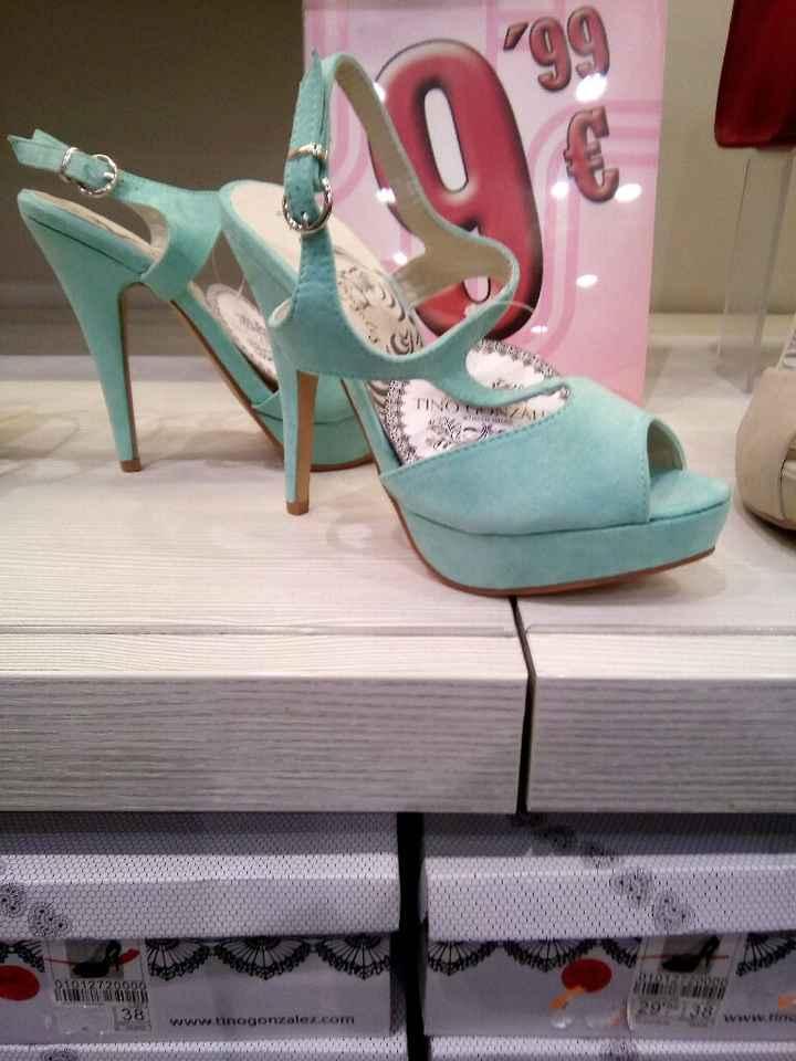Sapatos verde menta - 1
