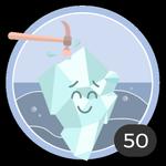 Quebrar o gelo (50). Sabemos que não é fácil quebrar o gelo, mas não foi preciso pensar duas vezes para ser a primeira a comentar um debate. Merece esta medalha!