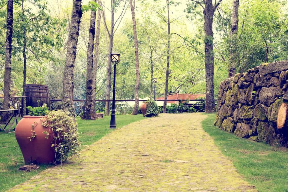 Jardim espaço entradas