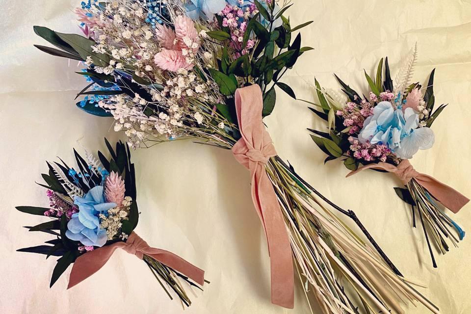 Ramo e flores lapela