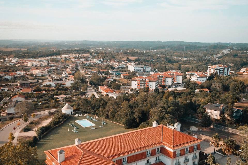 Visão aérea da propriedade