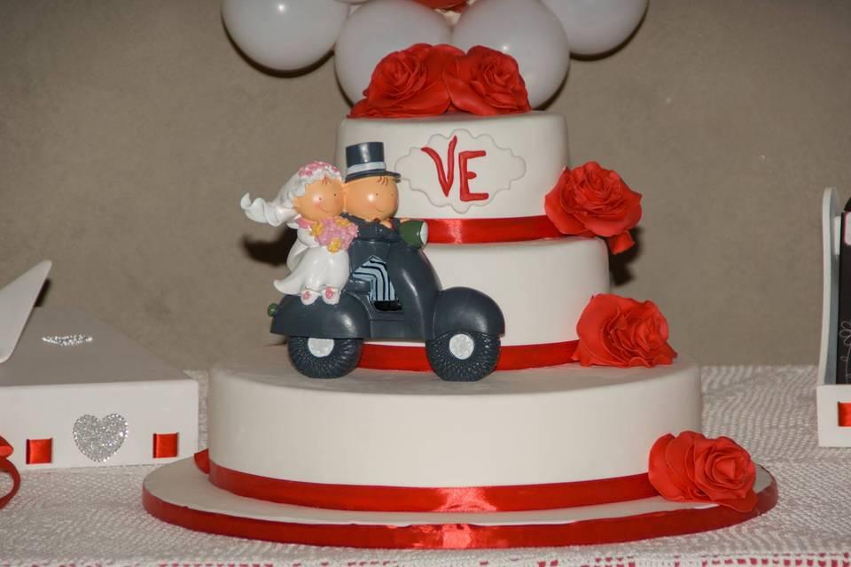 Bolo casamento civil