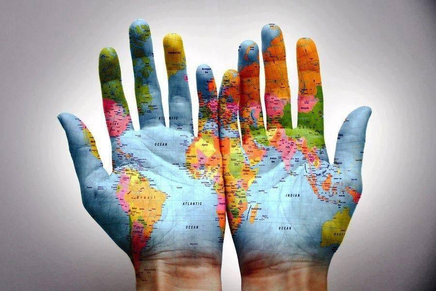 O mundo nas suas mãos