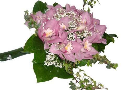 Bouquet noiva cymbidium rosa